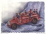 Faithful Fire Engine Art Print