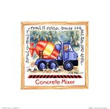 Concrete Mixer Art Print