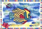 Kissing Fish I Art Print