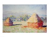 Haystacks in the Sun, Morning Effect, 1891 Art Print