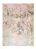Composition sketch for The Adoration of the Magi, 1481 Art Print
