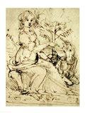 Lady with a Unicorn Art Print