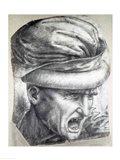 Head of a Warrior Art Print