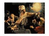 Belshazzar's Feast c.1636 Art Print
