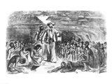 Scene in the Hold of the Slave Ship Art Print