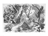 Defeat of General Braddock, in the French and Indian War, in Virginia Art Print