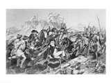Battle of Saratoga - General Arnold Wounded in the Attack on the Hessian Redoubt Art Print