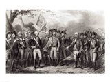 The British Surrendering their Arms to General Washington Art Print
