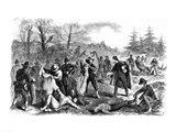 Scenes in the War: Rebel Soldiers after Battle 'Peeling' Art Print