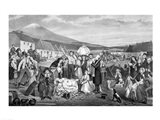 The Eviction: A Scene from Life in Ireland Art Print