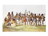 War Dance of the Sauks and Foxes Art Print