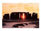 Stonehenge, Winter Solstice Art Print