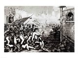 Battle of Monterey: The Americans Forcing their Way to the Main Plaza Art Print