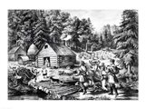 The Pioneer's Home on the Western Frontier Art Print