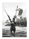 Balboa Claiming Dominion over the South Sea Art Print