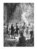 Moravian Missionaries Among the Indians Art Print