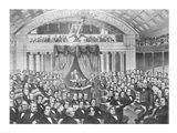 Daniel Webster addressing the United States Senate Art Print