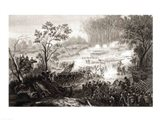 The Battle at Pittsburg Landing Art Print