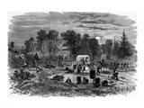 Blenker's Brigade Covering the Retreat Near Centreville, July 1861 Art Print