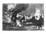 The Interior of Fort Sumter During the Bombardment, 12th April 1861 Art Print