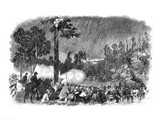 Battle at Corrack's Ford, Between the Troops of General McClellan's Command Art Print