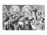 John Lamb speaking at the Sons of Liberty Meeting at New York City Hall Concerning the Landing of British Tea in New York Art Print