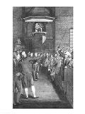Town Meeting, c.1770 Art Print