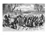 The Effects of the Proclamation: Freed Negroes Coming into Our Lines at Newbern, North Carolina Art Print