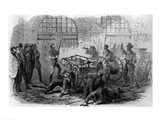 Harper's Ferry Insurrection: Interior of the Engine-House Art Print