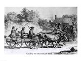Going to Meeting in 1776 Art Print