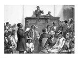A Congregation at Washington Art Print