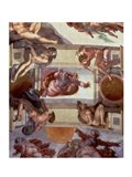 Sistine Chapel Ceiling (1508-12): The Separation of the Waters from the Earth, 1511-12 Art Print