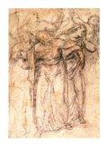 Study of Mourning Women Art Print