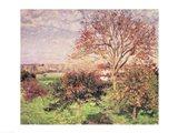 Autumn morning at Eragny, 1897 Art Print