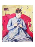 Madame Cezanne sewing Art Print