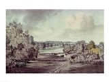 The Valley of the Stour, with Langham church in the distance Art Print