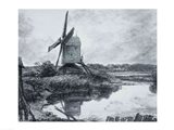 A mill on the banks of the River Stour Art Print