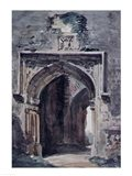 East Bergholt Church: South Archway of the Ruined Tower, 1806 Art Print
