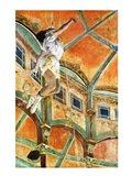 Miss La la at the Cirque Fernando, 1879 Art Print