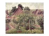 Landscape with Cottage Roofs, 1899 Art Print
