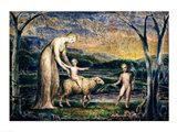 Our Lady with the Infant Jesus Riding on a Lamb with St John Art Print