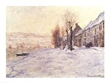 Lavacourt under Snow, c.1878-81 Art Print