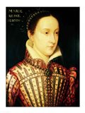 Miniature of Mary Queen of Scots, c.1560 Art Print