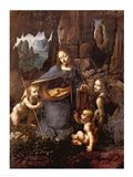 The Virgin of the Rocks Art Print