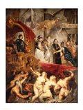 The Arrival of Marie de Medici in Marseilles, 3rd November 1600 Art Print