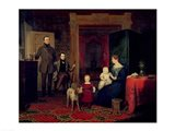 Portrait of the Van Cortland Family, c.1830 Art Print