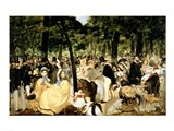 Music in the Tuileries Gardens, 1862 Art Print