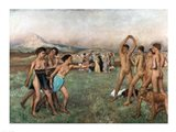 Young Spartans Exercising, c.1860 Art Print