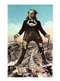 W.H. Vanderbilt as a 'Colossus of Roads' Art Print