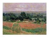 Haystack at Giverny, 1886 Art Print